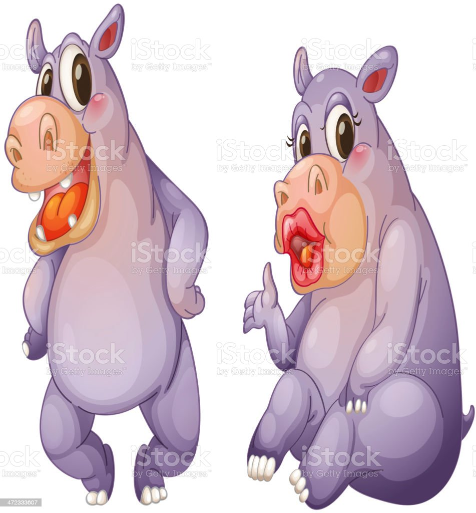 Hippos royalty-free hippos stock vector art & more images of adult