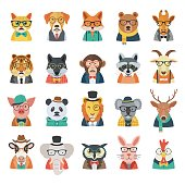 Hipster animal fashion styles