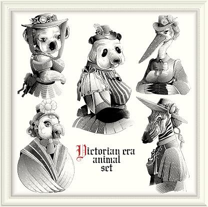 Hipster animals (Victorian Era)