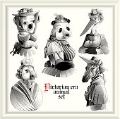 Hipster animals (Victorian Era)