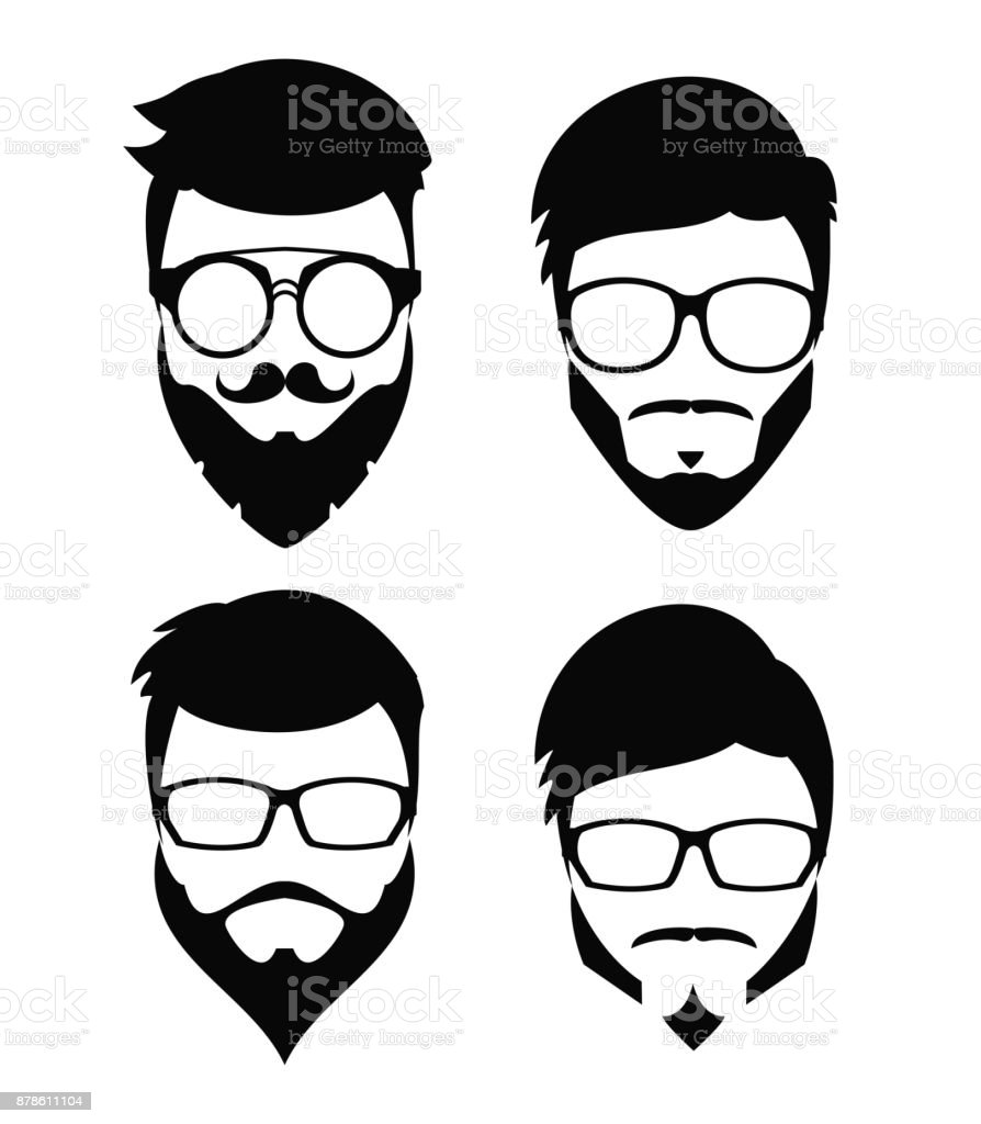 Hipster Beard Hair And Accesories Stock Vector Art More Images Of Royalty Free