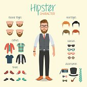 Hipster elements and icons