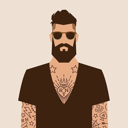 Hipster lifestyle stock illustrations