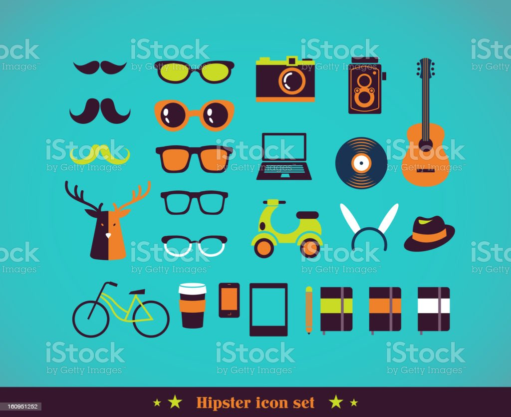 Hipster concept icon set royalty-free hipster concept icon set stock vector art & more images of adult