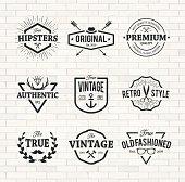 Hipster Emblems