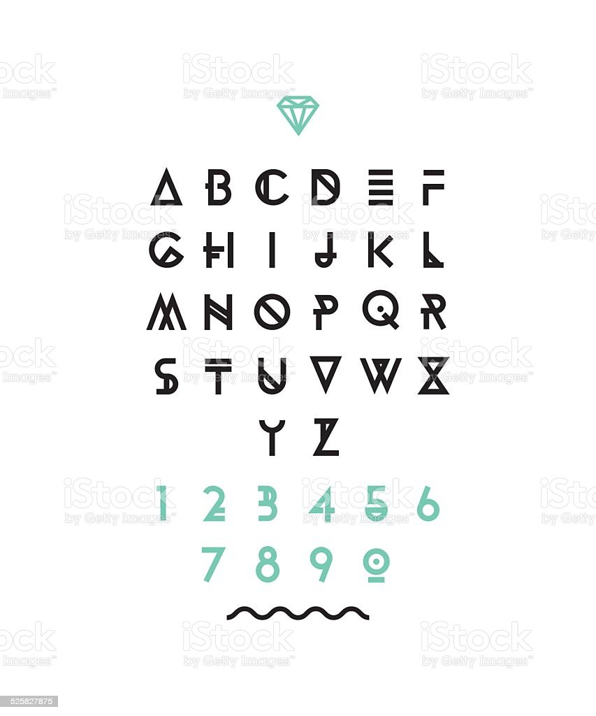 Hipster Font Typeface Typography Typewriter Poster Type