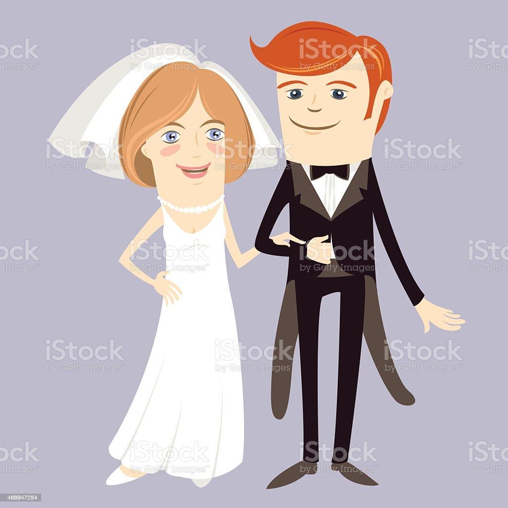 Hipster Drole Couple Juste Marie Style Appartement Vecteurs Libres De Droits Et Plus D Images Vectorielles De 2015 Istock