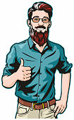 istock Hipster Gives Thumbs Up 1222276074