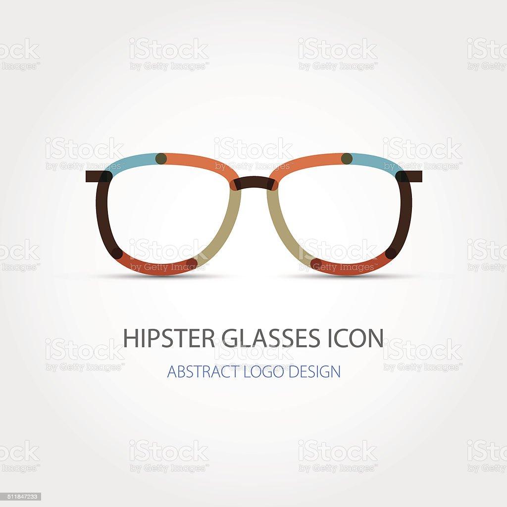 Hipster Glasses Icon Abstract Logo Design Vector Stock Vector Art