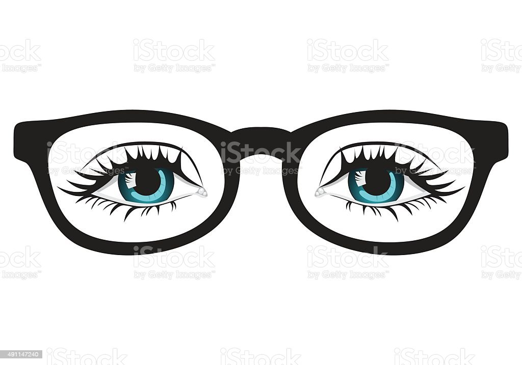 Hipster Glasses vector art illustration