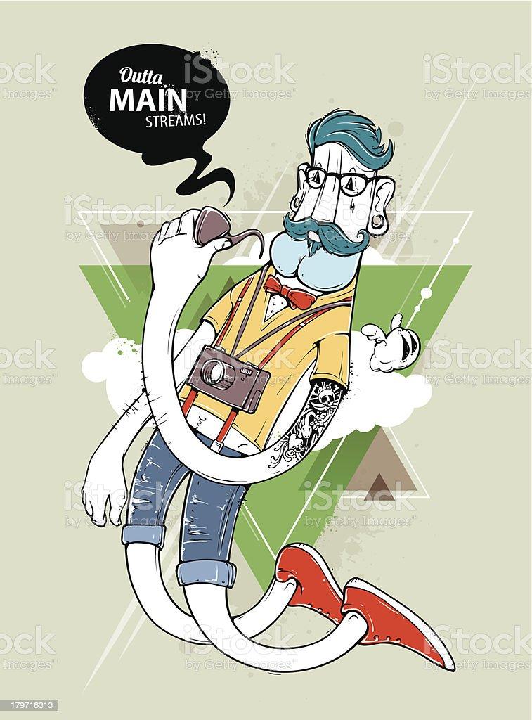 Hipster graffiti character royalty-free hipster graffiti character stock vector art & more images of abstract