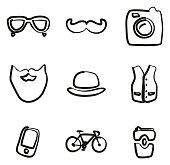 Hipster Icons Freehand
