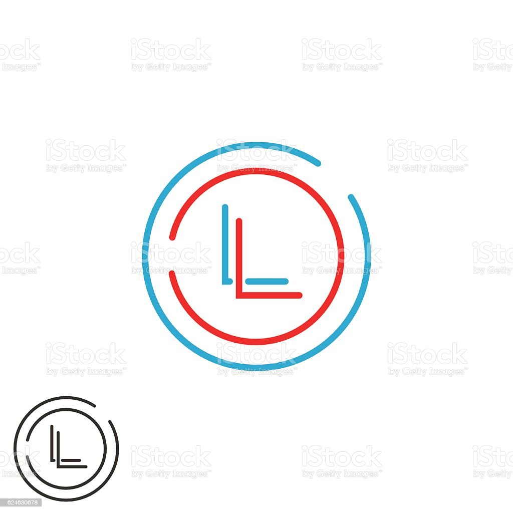 hipster initials ll letters logo combination l l monogram