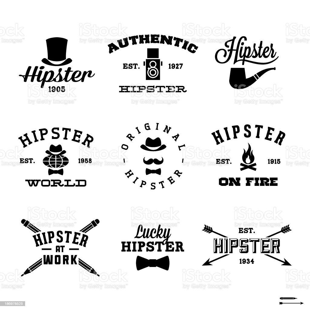 hipster labels vector art illustration