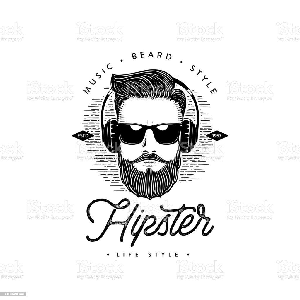 Estilo de vida hipster homem da barba. Ilustração do vetor - Vetor de Adulto royalty-free