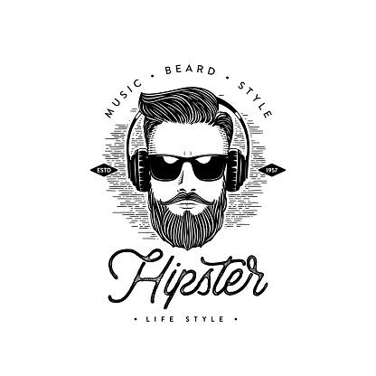 Vetores de Estilo De Vida Hipster Homem Da Barba Ilustração Do Vetor e mais imagens de Adulto