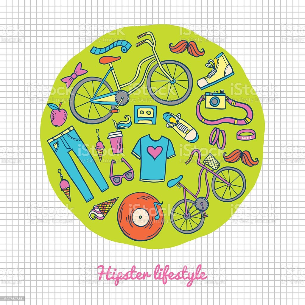 Hipster lifestyle icon collection royalty-free hipster lifestyle icon collection stock vector art & more images of arts culture and entertainment