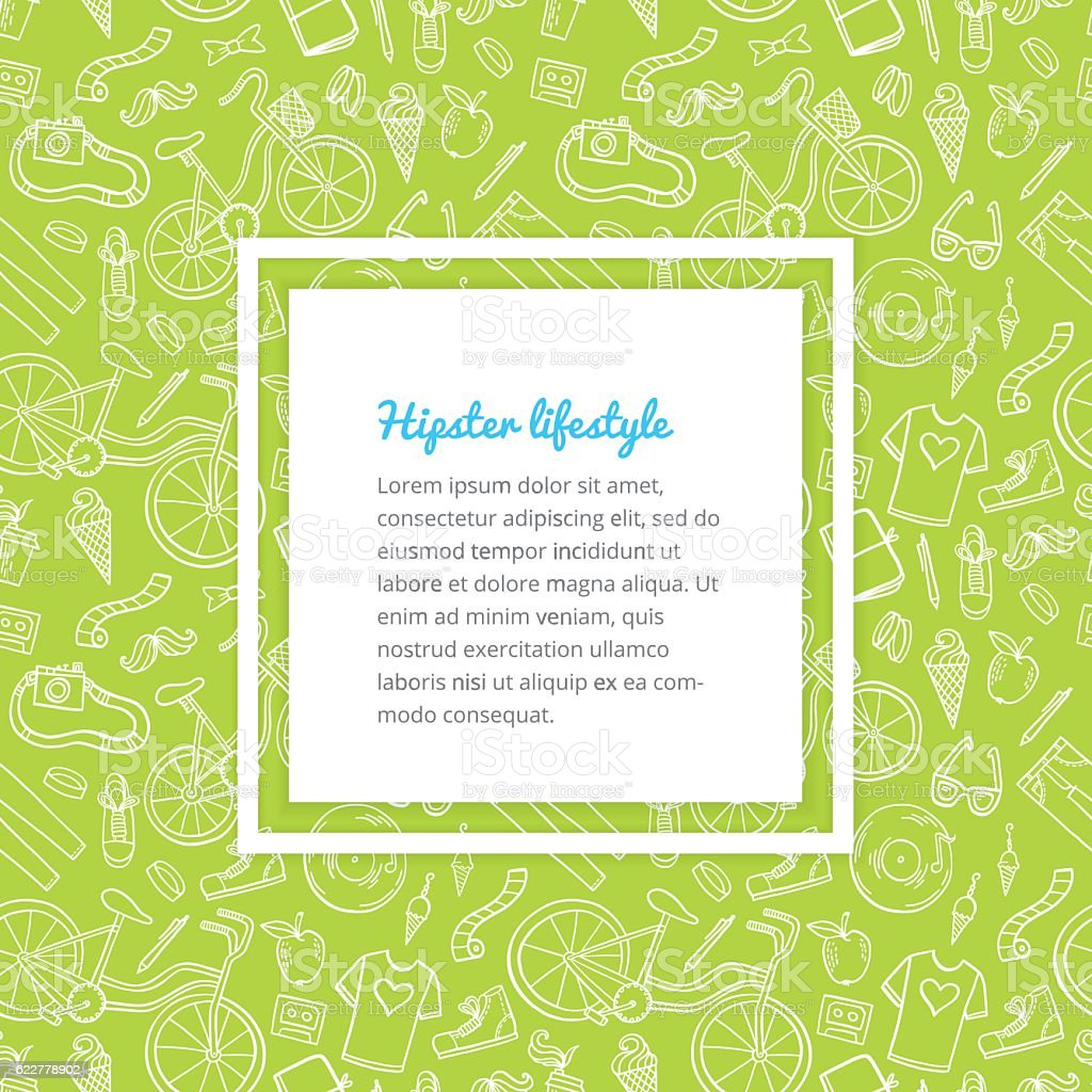 Hipster lifestyle pattern background royalty-free hipster lifestyle pattern background stock vector art & more images of arts culture and entertainment