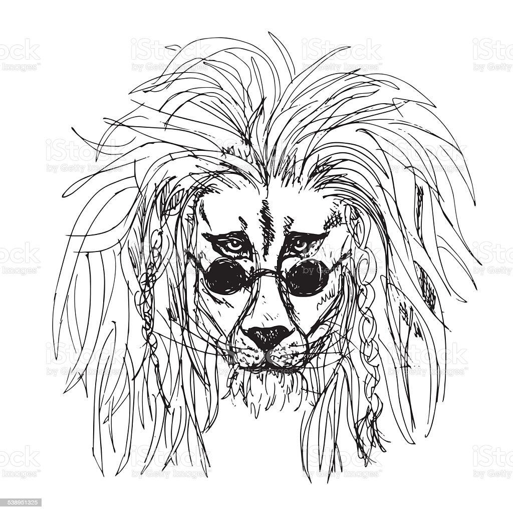 Ilustración de Hipster León Tatuaje y más banco de imágenes de 2015 ...
