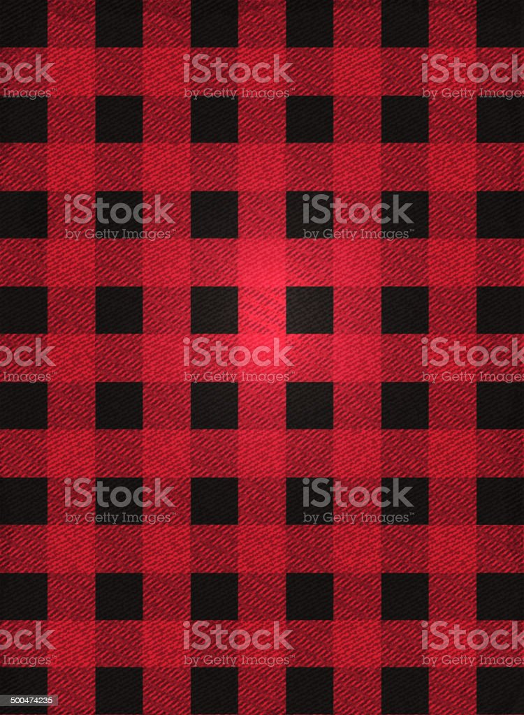 Hipster lumberjack print, plaid or Flannel background design vector art illustration