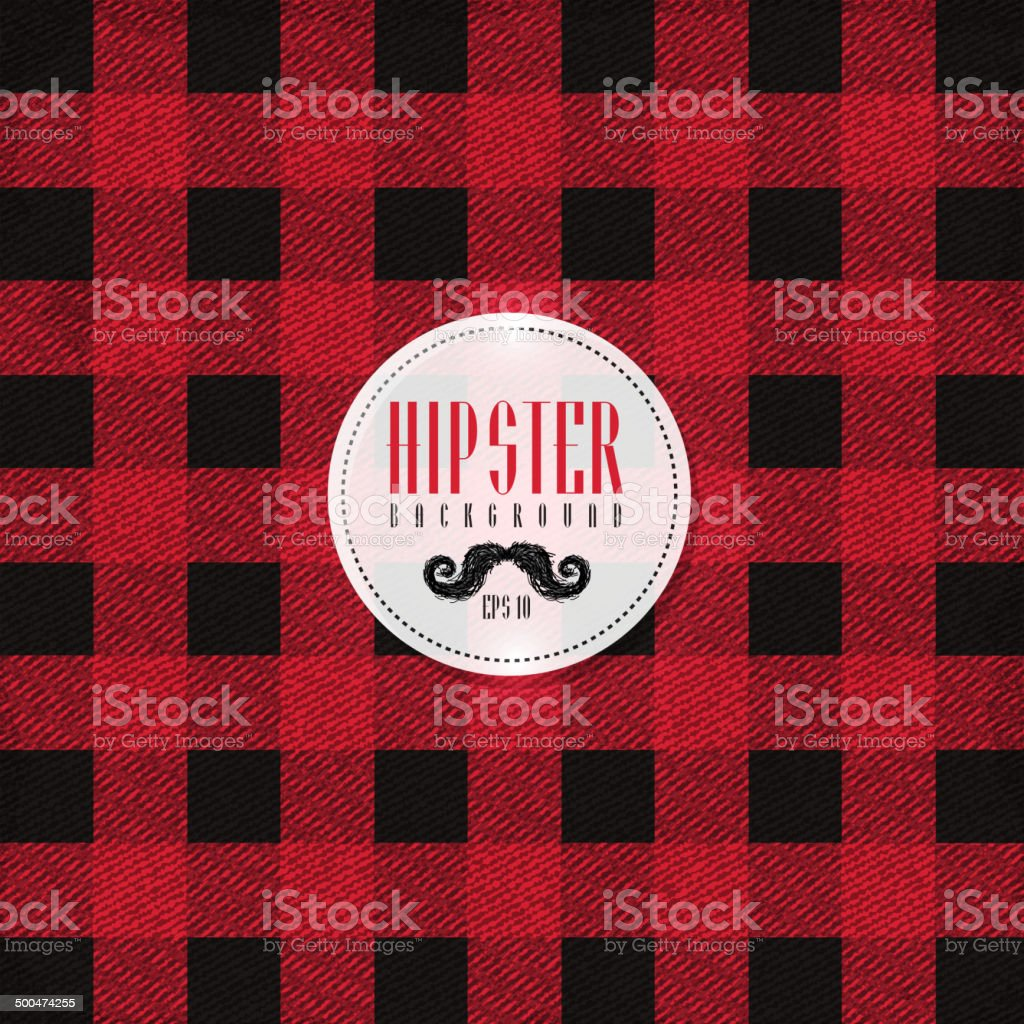 Hipster lumberjack print, plaid or Flannel pattern vector art illustration