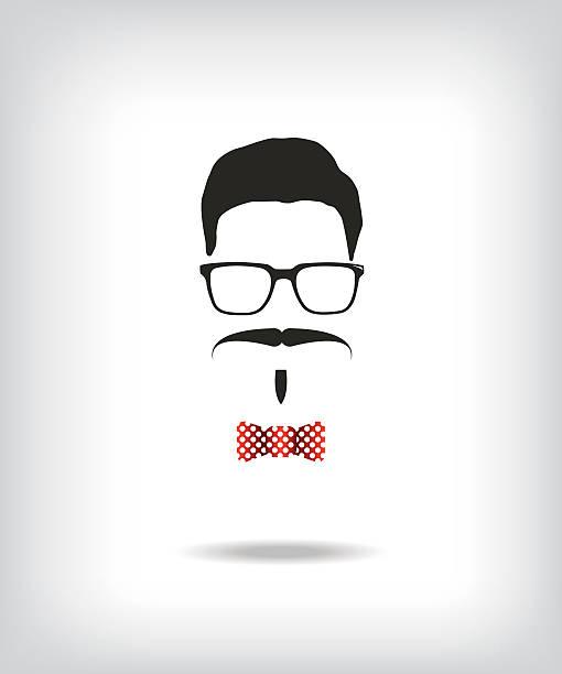 hipster man illustration - old man mask stock illustrations, clip art, cartoons, & icons