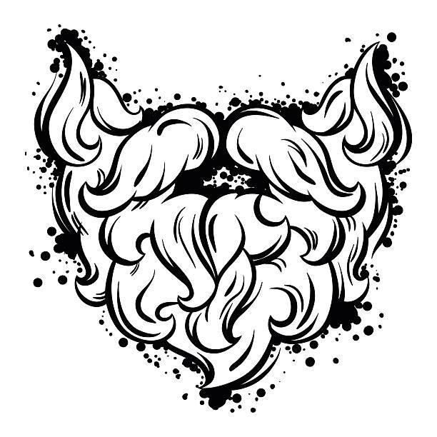 ilustrações, clipart, desenhos animados e ícones de hipster bigode e barba estilo de arte em linha - moda urbana