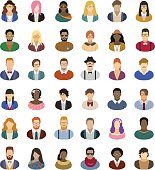 Hipster people – icon set
