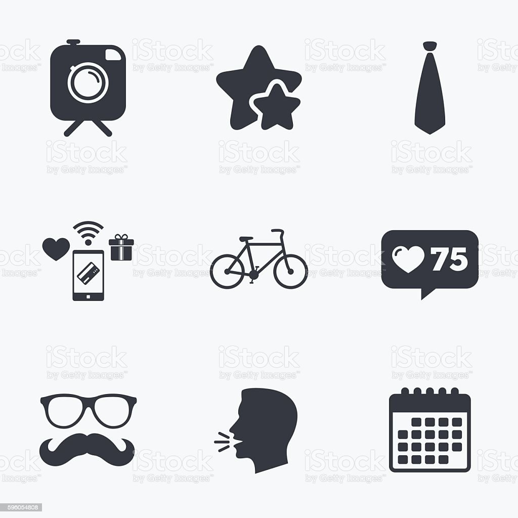 Hipster photo camera icon. Glasses symbol. royalty-free hipster photo camera icon glasses symbol stock vector art & more images of badge