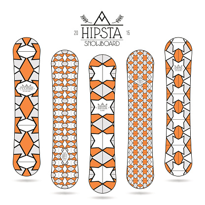 Hipster print for snowboard