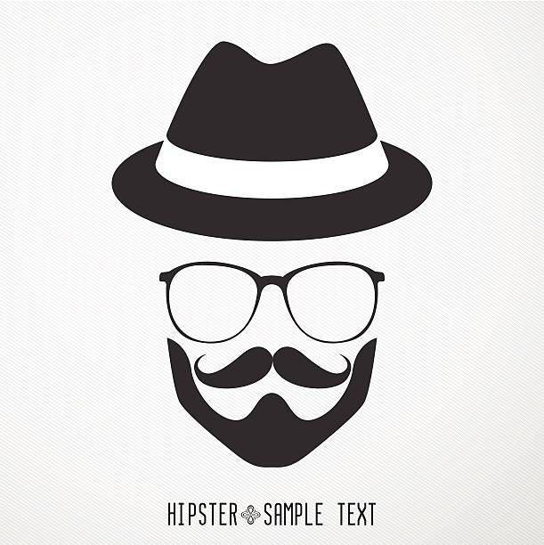 hipster retro vintage icon set - illustration - old man sunglasses stock illustrations, clip art, cartoons, & icons