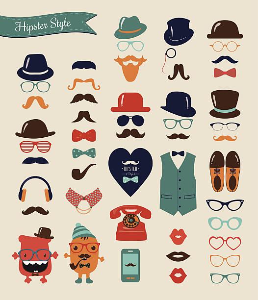hipster retro vintage icon set - 個人飾物 幅插畫檔、美工圖案、卡通及圖標