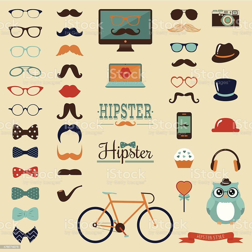 8ddb4130ea0 Hipster Retro Vintage Icon Set royalty-free hipster retro vintage icon set  stock vector art