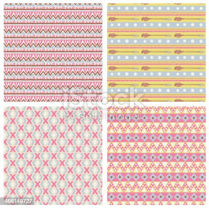 istock Hipster seamless tribal patterns 466149727