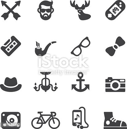 Hipster Silhouette icons