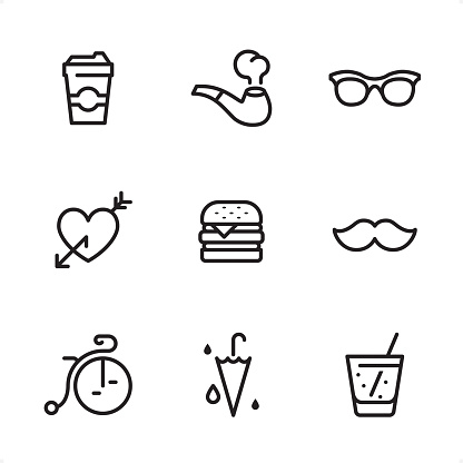 Hipster - Single Line icons