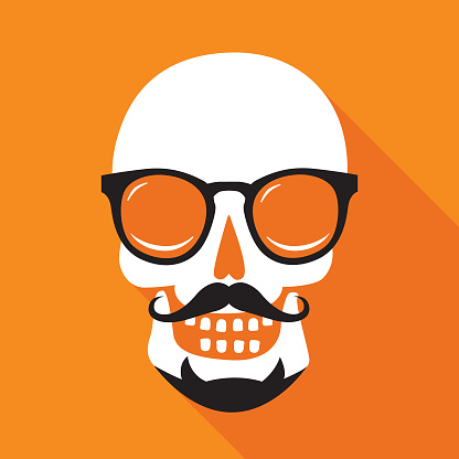 Hipster Skull Face icon