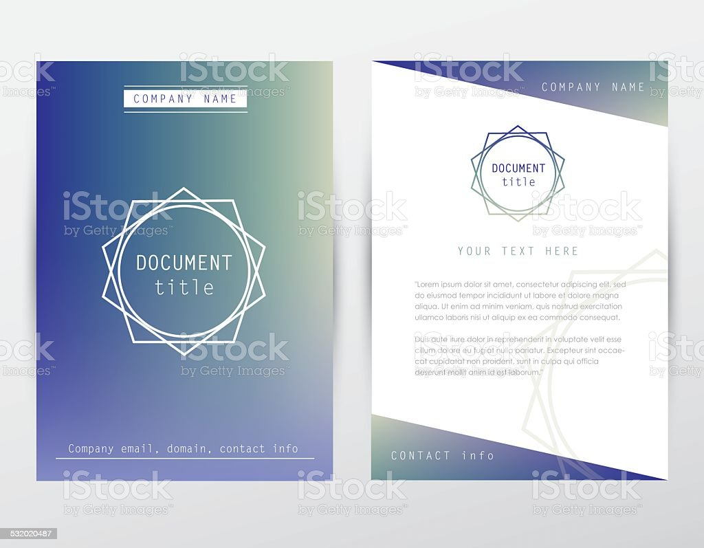 Hipster Style Corporate Identity Brochure Cover And Letterhead ...