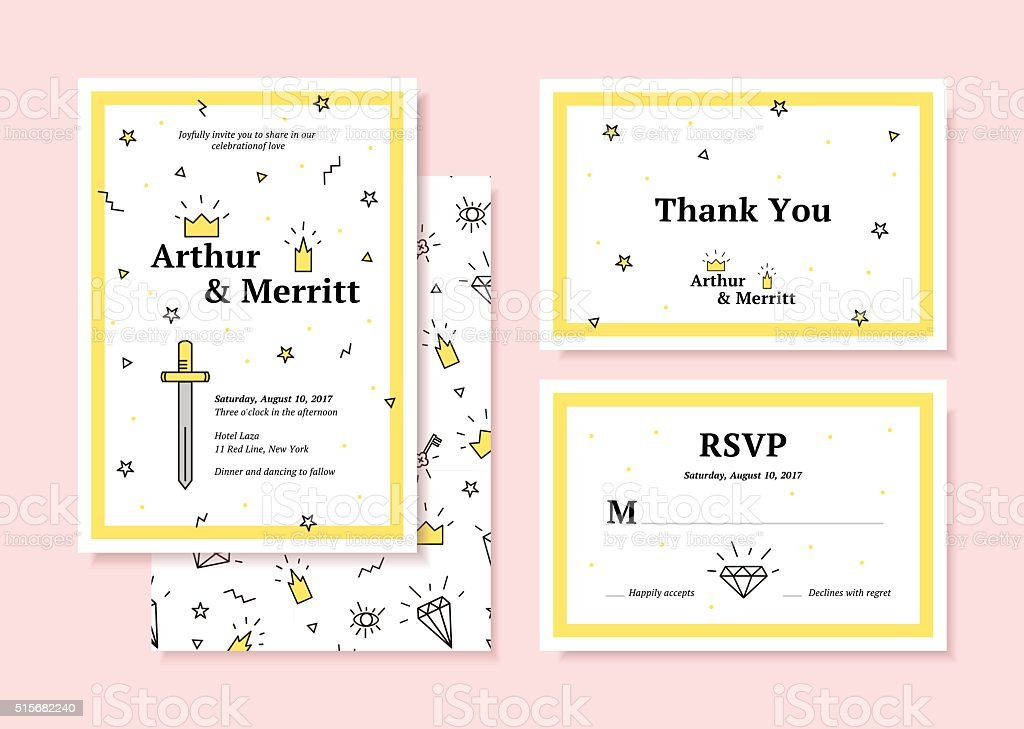 Hipster style, invitation vector art illustration