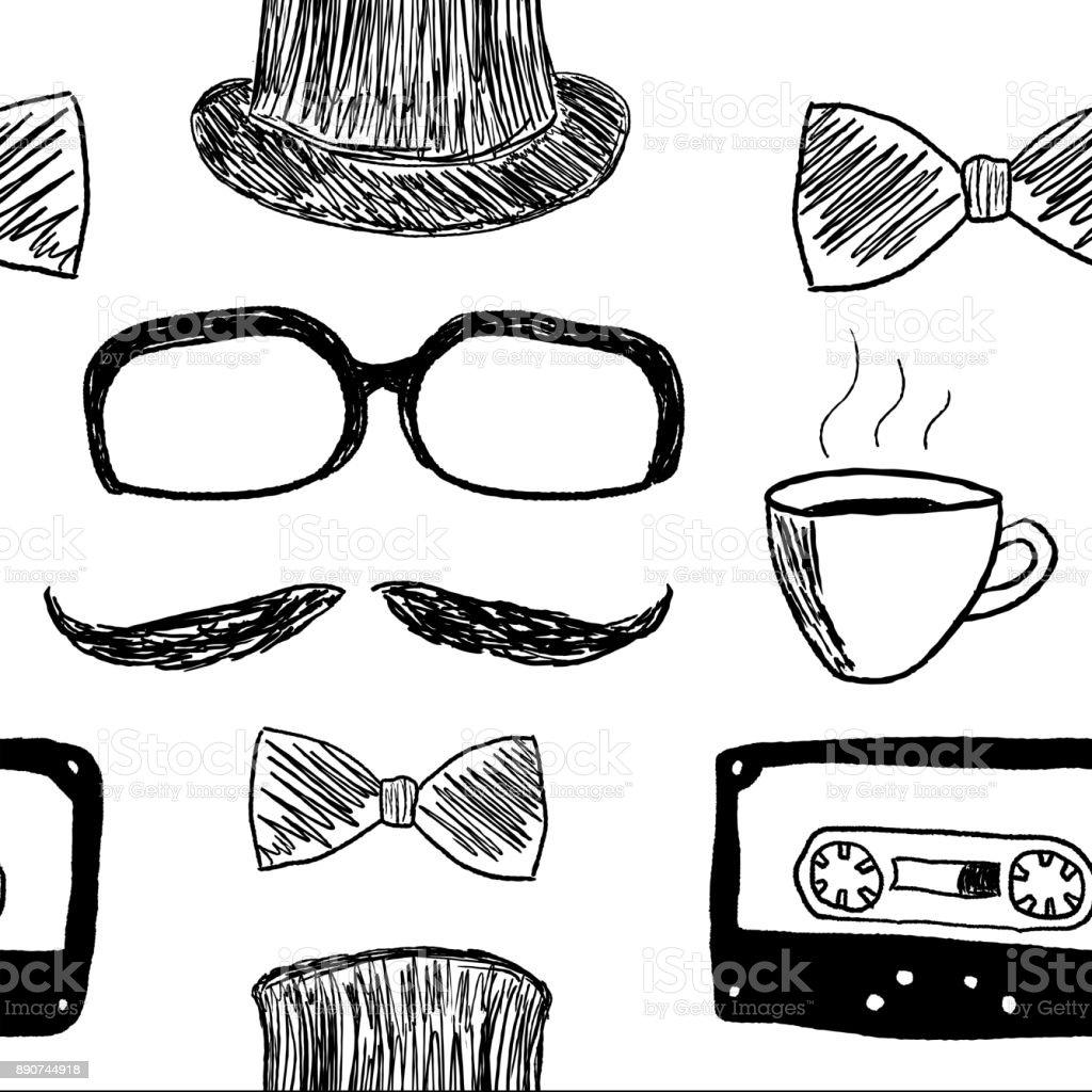Hipster texture vector art illustration