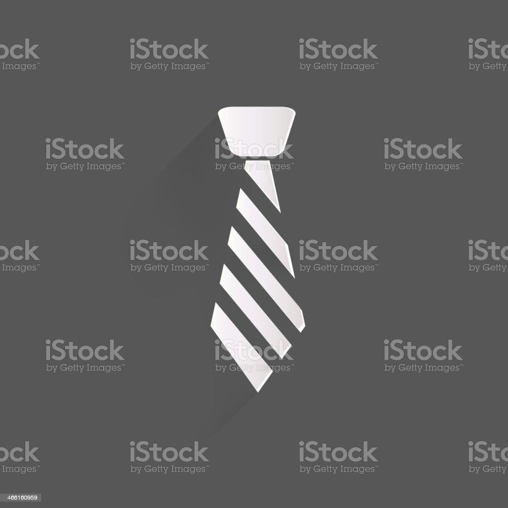 Hipster tie icon vector art illustration