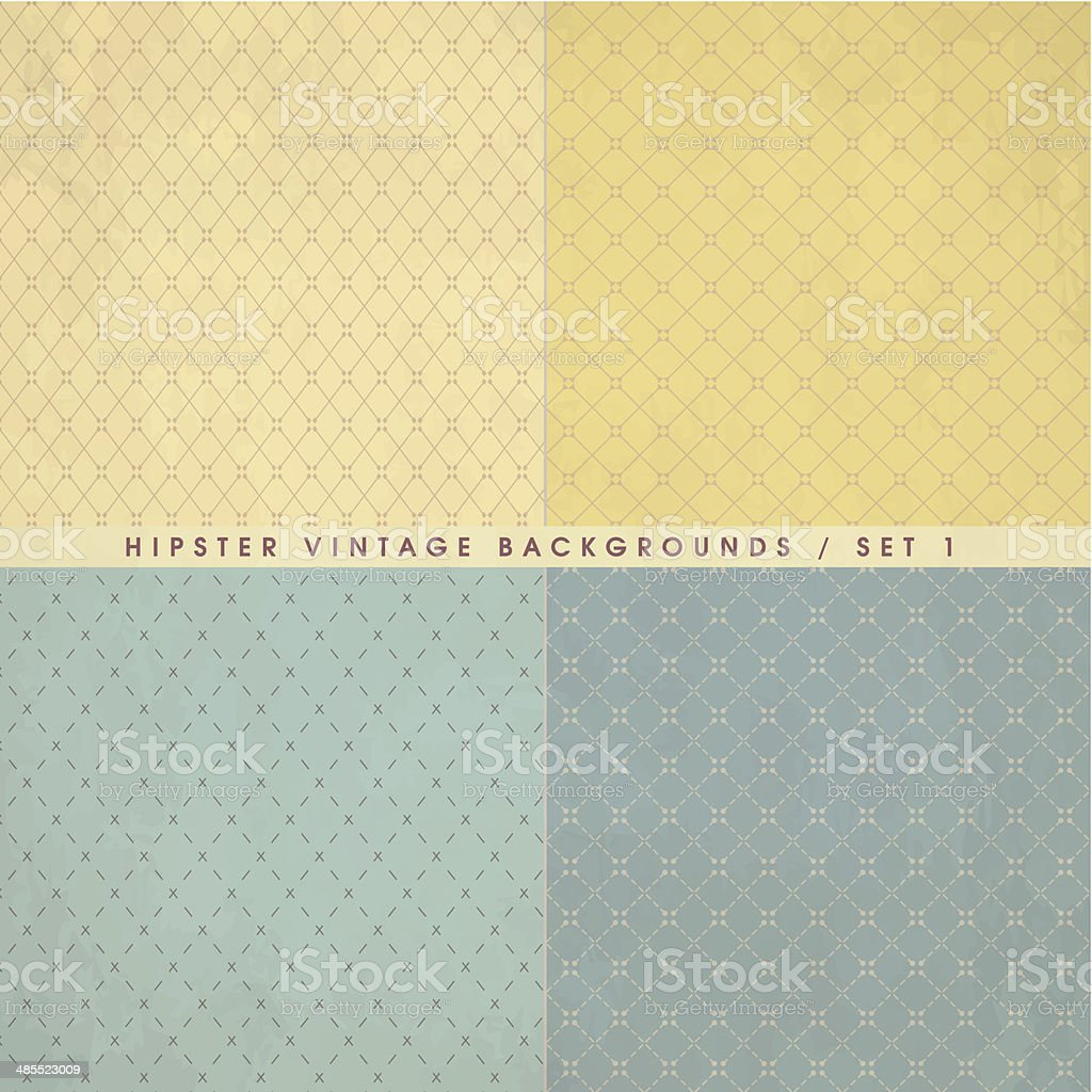 Hipster vintage retro backgrounds set royalty-free stock vector art