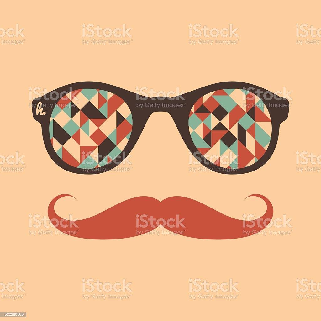 e78c0179d8 Hipster lunettes de soleil vintage avec des triangles et carrés. hipster  lunettes de soleil vintage