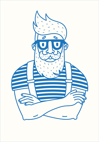 Hipster with a beard