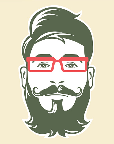 Hipster with red glasses
