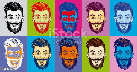istock Hipster_Pop-Art_Man 1254710740