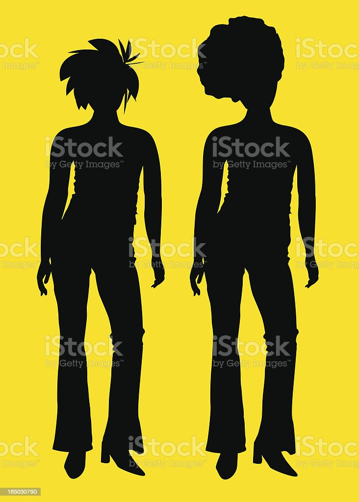 Hipsters  ( Vector ) royalty-free stock vector art