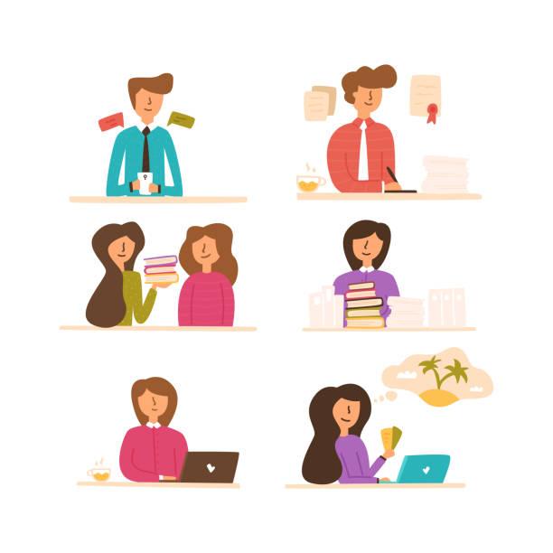 Einstellung eines Mitarbeiters zur Ausbildung von Mitarbeitern. – Vektorgrafik
