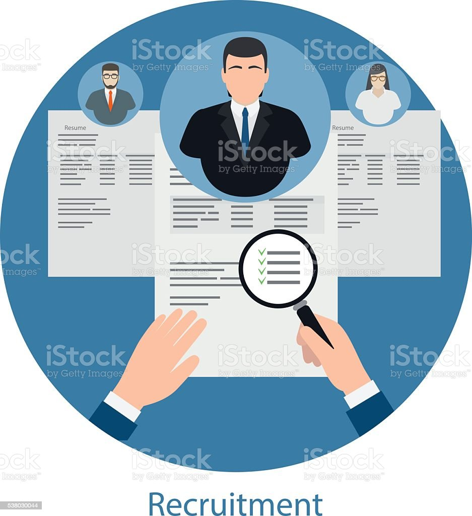 Hiring and human resources concept vector art illustration