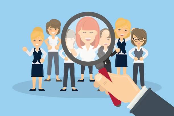 Hiring new people. vector art illustration